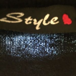 Style Tops - Style Black Cotton Shrug Top